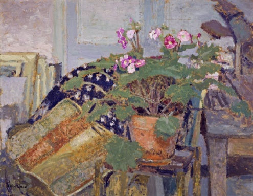 Le Pot de fleurs [Pot of Flowers] - Edouard Vuillard (1900), oil on millboard, National Galleries of Scotland, image via Google Arts and Culture