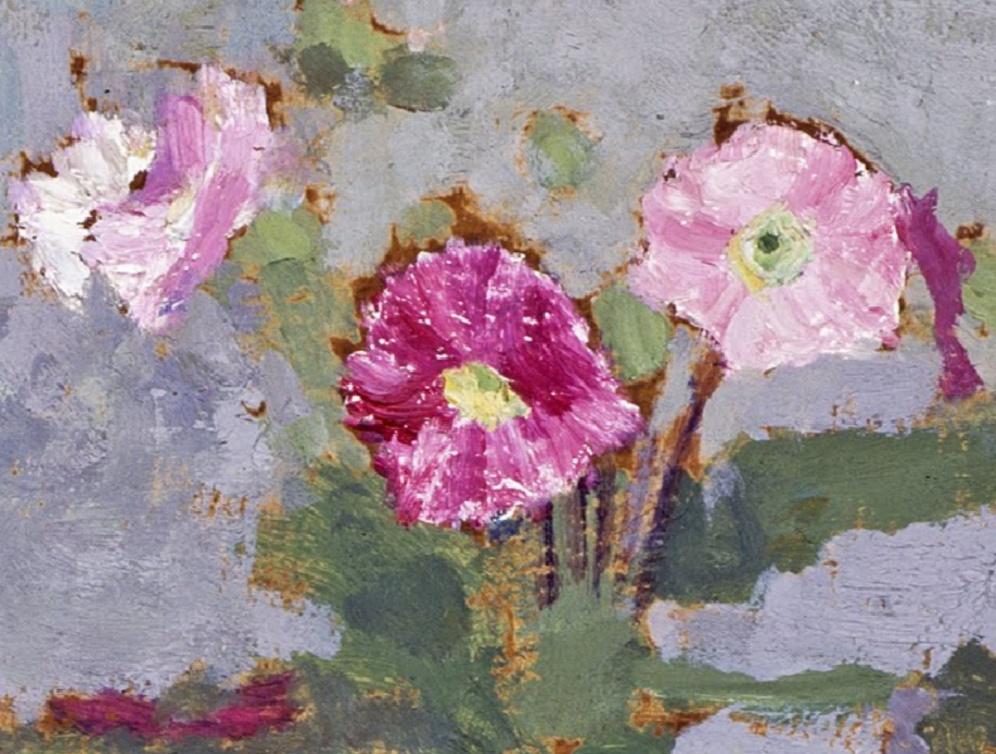Le Pot de fleurs [Pot of Flowers] - Edouard Vuillard (1900), oil on millboard, National Galleries of Scotland, image via Google Arts and Culture, detail