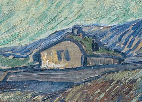 Laboureur dans un champ, St Remy by Vincent van Gogh, (1889) image source: Christies, detail