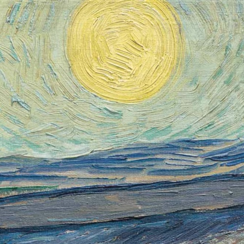 Laboureur dans un champ, St Remy by Vincent van Gogh, (1889) image source: Christies, detail