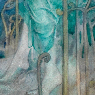 Olive Leared (née Hockin) (British, 1880-1936) 'Pan! Pan! (detail)