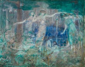 Olive Leared (née Hockin) (British, 1880-1936) 'Pan! Pan! O Pan!