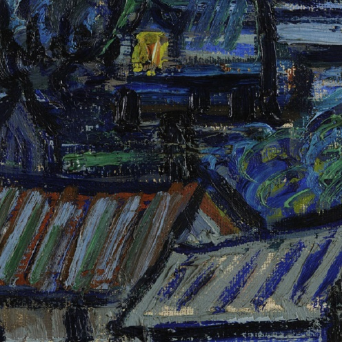 Vincent van Gogh The Starry Night, Saint Rémy, 1889, The Museum of Modern Art, New-York (detail)