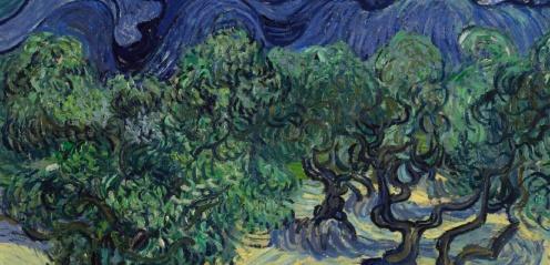 Vincent van Gogh, The Olive Trees, Saint Rémy,1889,detail