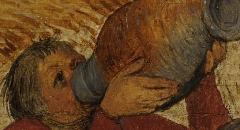 Pieter Bruegel the Elder - The Harvesters - 1565 On view at The Met Fifth Avenue (detail)