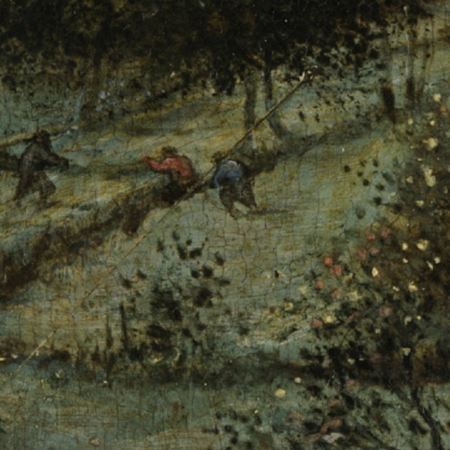 Pieter Bruegel the Elder - The Harvesters - 1565 On view at The Met Fifth Avenue (detail)