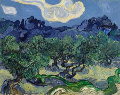 Vincent van Gogh, The Olive Trees, Saint Rémy,1889