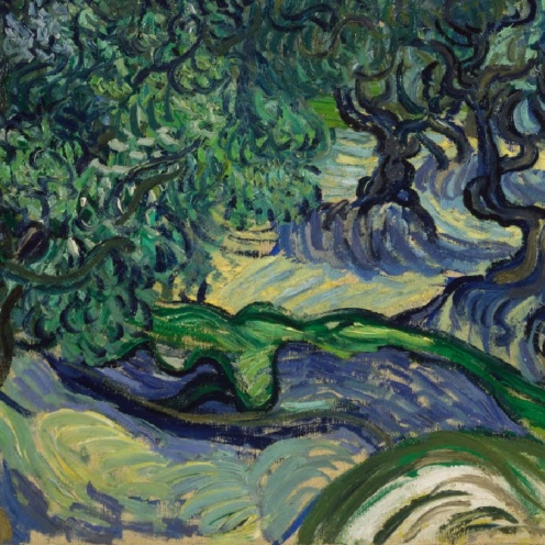 Vincent van Gogh, The Olive Trees, Saint Rémy,1889,detail