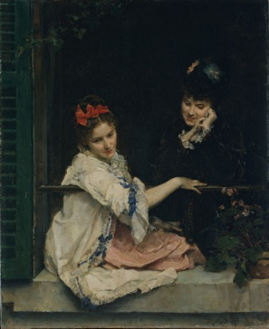Girls at a Window by Raimundo de Madrazo y Garreta