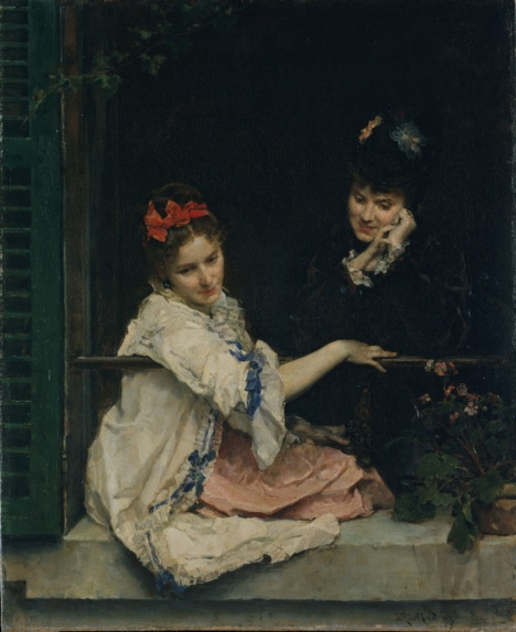 Girls at a Window by Raimundo de Madrazo y Garreta