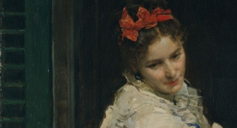 Girls at a Window by Raimundo de Madrazo y Garreta,detail
