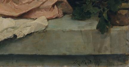 Girls at a Window by Raimundo de Madrazo y Garreta,detail