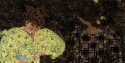 Pierre Bonnard (1867-1947), The Croquet Game (1892), oil on canvas, 130 x 162.5 cm, Musée d'Orsay, Paris). The Athenaeum.(detail)