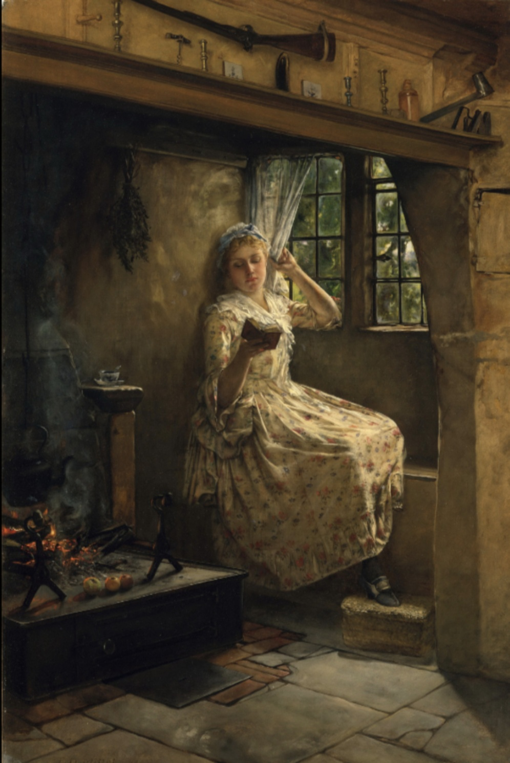 Francis David Millet, A Cosey Corner,1884, Metropolitan Museum of Art - New York