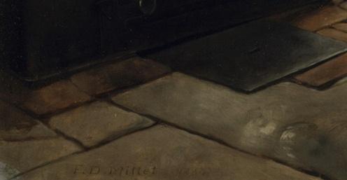 Francis David Millet, A Cosey Corner,1884, Metropolitan Museum of Art - New York (detail)