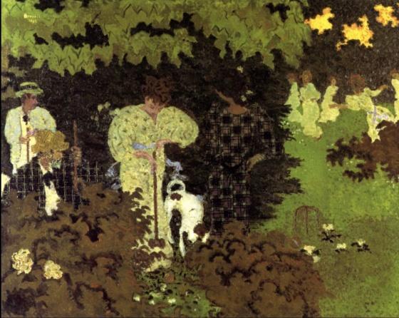 Pierre Bonnard (1867-1947), The Croquet Game (1892), oil on canvas, 130 x 162.5 cm, Musée d'Orsay, Paris). The Athenaeum.