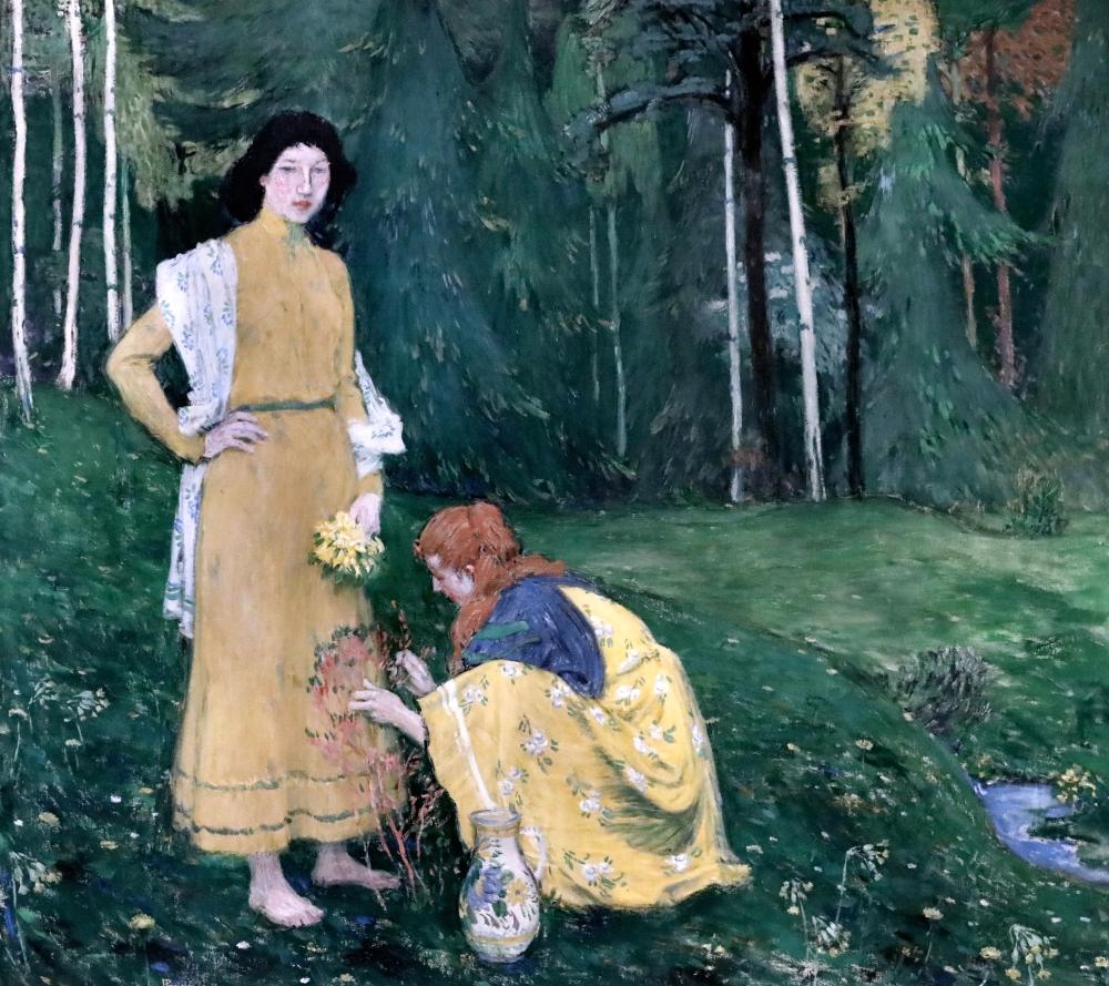 Jan Preisler. 1872-1918. Prague Printemps Spring 1906 Prague Národní Galerie Veletrzni Palac