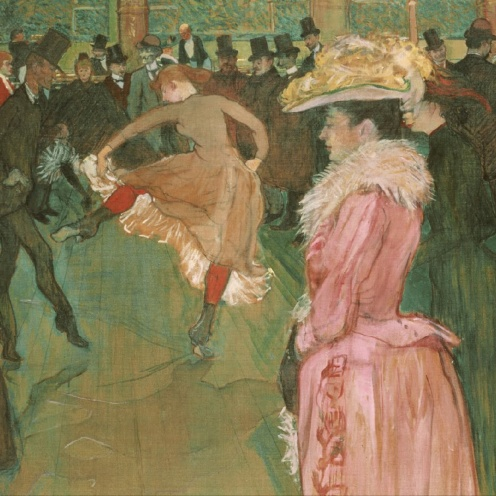 At the Moulin Rouge: The Dance, Henri de Toulouse-Lautrec (1890) Philadelphia Museum of Art, [Public domain], via Wikimedia Commons