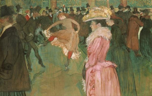 At the Moulin Rouge: The Dance, Henri de Toulouse-Lautrec (1890) Philadelphia Museum of Art, [Public domain], via Wikimedia Commons