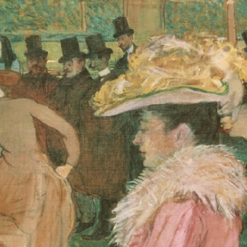 At the Moulin Rouge: The Dance, Henri de Toulouse-Lautrec (1890) Philadelphia Museum of Art, [Public domain], via Wikimedia Commons (detail)