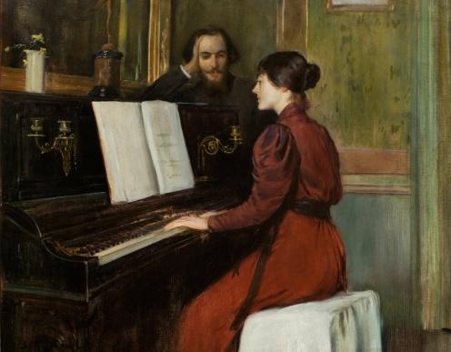 A Romance by Santiago Rusiñol ,1894, from Museu Nacional d'Art de Catalunya, ,Image from Google Arts and Culture