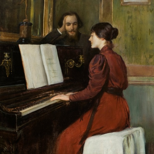 A Romance by Santiago Rusiñol ,1894, from Museu Nacional d'Art de Catalunya, ,Image from Google Arts and Culture