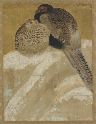 Anonymous Japanese painter - Two Pheasants on a Snow Bank. N.d., Momoyama period (1573 – 1615)