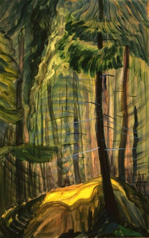 Emily Carr, Forest Glade, oil and gouache on paperboard