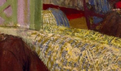 Marcelle Aron (Madame Tristan Bernard), Edouard Vuillard, Distemper on canvas, 1914, w156.5 x h181.3 cm (without frame), Credit Line: The Museum of Fine Arts, Houston, Credit: gift of Alice C. Simkins in memory of Alice N. Hanszen, Via Google Arts & Culture, detail