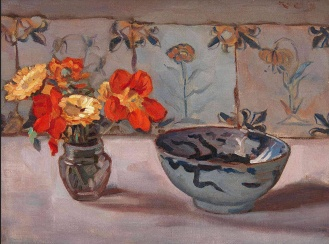Still Life, Dirk Jan Koets, Dutch (1895-1956) Oil on canvas, 30 x 40 cm, Via huariqueje