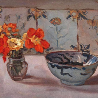 Still Life, Dirk Jan Koets, Dutch (1895-1956) Oil on canvas, 30 x 40 cm, Via huariqueje
