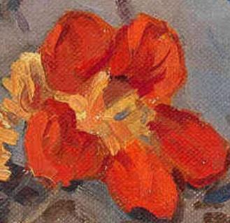 Still Life, Dirk Jan Koets, Dutch (1895-1956) Oil on canvas, 30 x 40 cm, Via huariqueje, detail