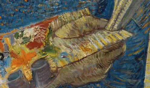 Self-Portrait as a Painter, December 1887 - February 1888, Oil on canvas, 65.1 cm × 50 cm Van Gogh Museum, Amsterdam (detail)