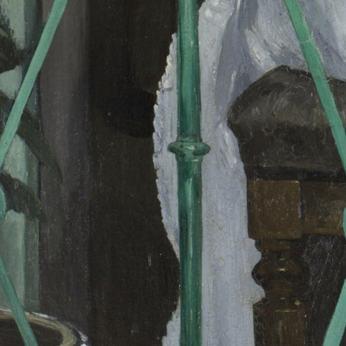 Edouard Manet, The Balcony, 1868-1869, Oil on canvas, H. 170; W. 124.5 cm, Musée d'Orsay, Paris, detail