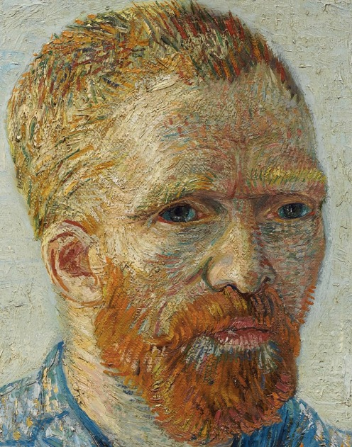 Self-Portrait as a Painter, December 1887 - February 1888, Oil on canvas, 65.1 cm × 50 cm Van Gogh Museum, Amsterdam (detail)