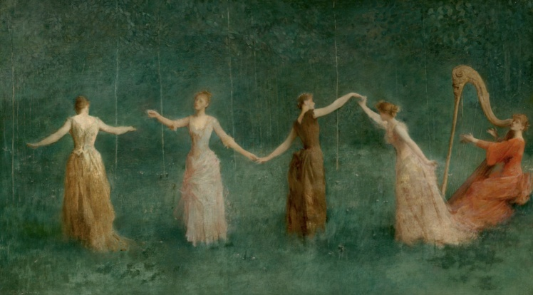 Thomas Wilmer Dewing_Summer (1890) Yale University, source: The Athenaeum