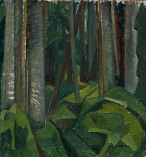 Emily Carr: Untitled forest scene (c1932), source Royal BC Museum