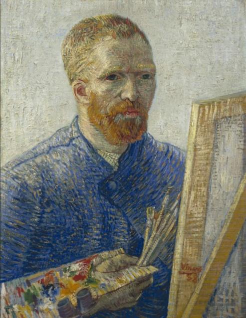 Self-Portrait as a Painter, December 1887 - February 1888, Oil on canvas, 65.1 cm × 50 cm Van Gogh Museum, Amsterdam