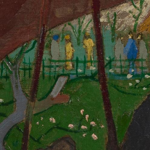 Van Gogh_Flowering Plum Orchard (after Hiroshige) - Van Gogh Museum (detail)
