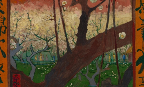 Van Gogh_Flowering Plum Orchard (after Hiroshige) - Van Gogh Museum (detail)