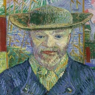 Vincent van Gogh, Portrait of Julien Tanguy, 1887, Musée Rodin, Paris (detail)