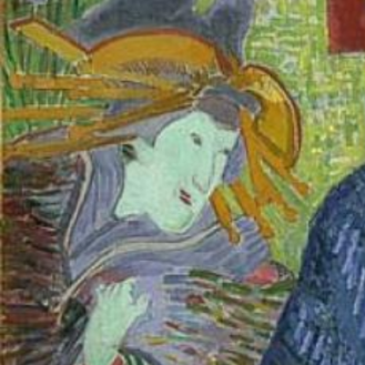 Vincent van Gogh, Portrait of Julien Tanguy, 1887, Musée Rodin, Paris, detail
