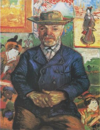 Portrait of Père Tanguy, The second painting of Père Tanguy by Vincent van Gogh