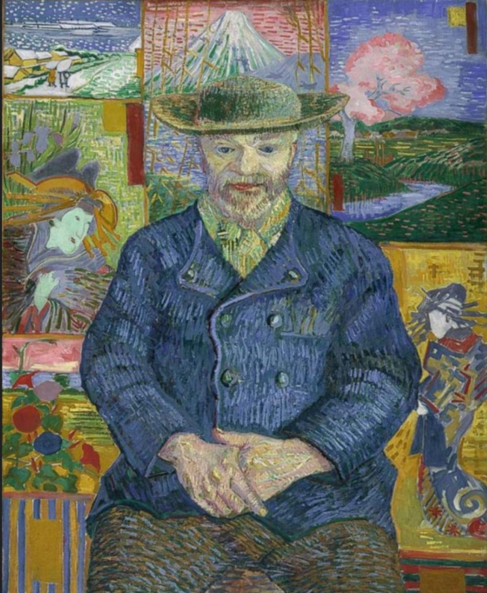 Vincent van Gogh, Portrait of Julien Tanguy, 1887, Musée Rodin, Paris, source: wikimedia