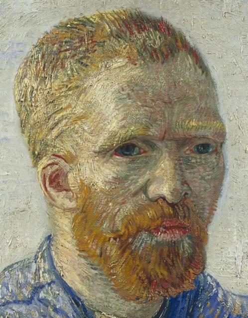 Self-Portrait as a Painter, December 1887 - February 1888, Oil on canvas, 65.1 cm × 50 cm Van Gogh Museum, Amsterdam, detail