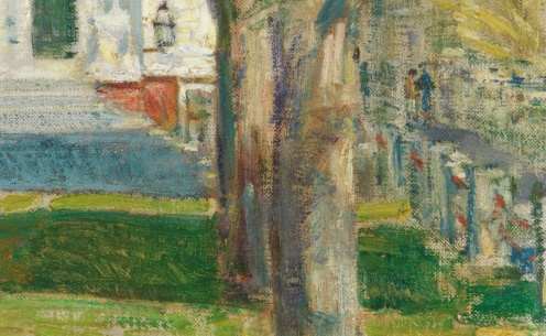 Childe Hassam,The Church at Gloucester (1918)Metropolitan Museum of Art (detail)