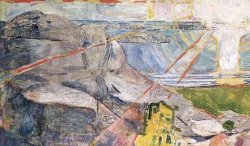 Edvard Munch, The Sun 1910-1911 (The Oslo University Mural) (image via Wikiart.org), detail