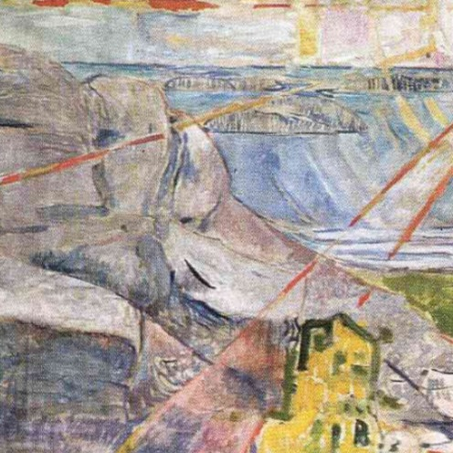 Edvard Munch, The Sun 1910-1911 (The Oslo University Mural) (image via Wikiart.org), detail