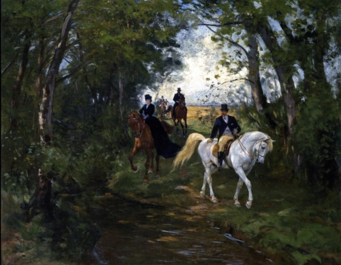 Rudolf Koller - Outing on the Forest's Edge