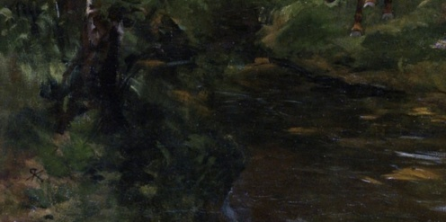Rudolf Koller - Outing on the Forest's Edge (detail)